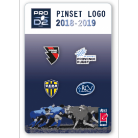 Set G de 4 pins PRO D2 : Oyonnax, Provence rugby SASP, USON, Rugby club vannes