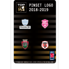 Set C de 4 pins TOP 14 : Racing. SF. RCT, ST