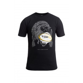 T-shirt à col rond Gorille Rugby By Nature - Rugby Division - noir pour homme